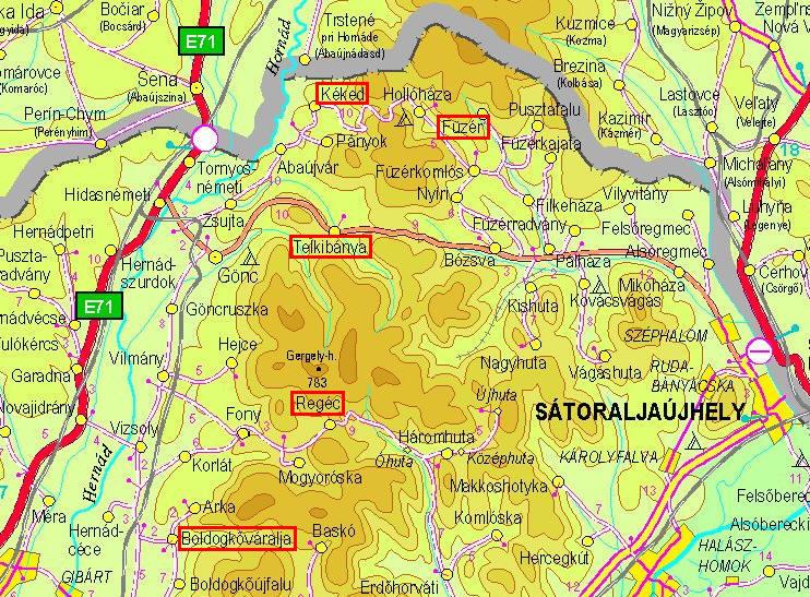 boldogkőváralja térkép Castles of Zemplén   2005.09.17 18. boldogkőváralja térkép