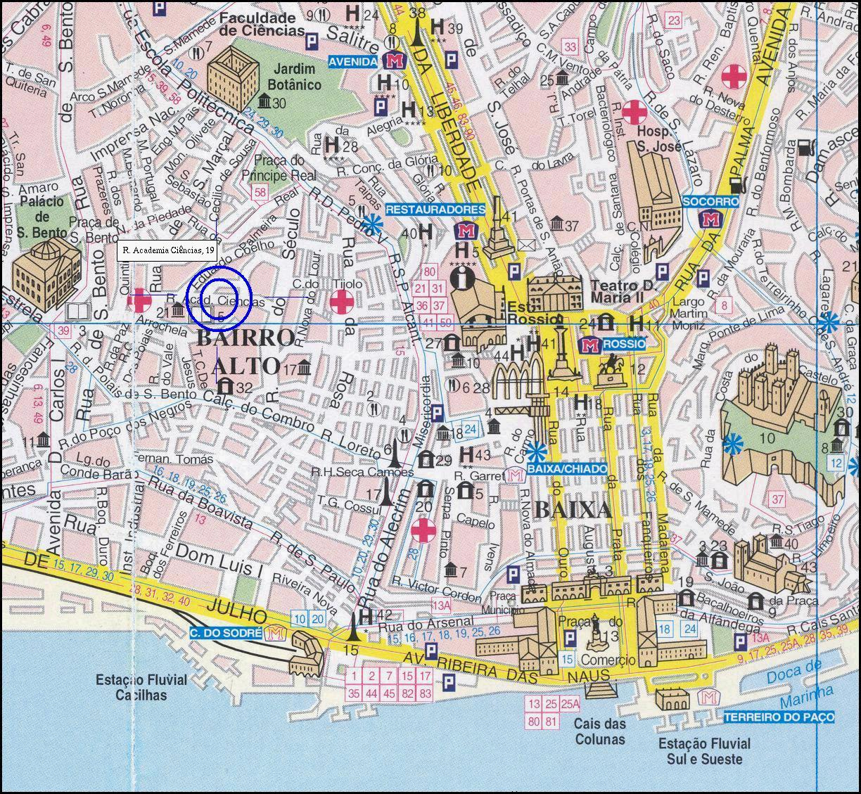 lisboa portugal map: