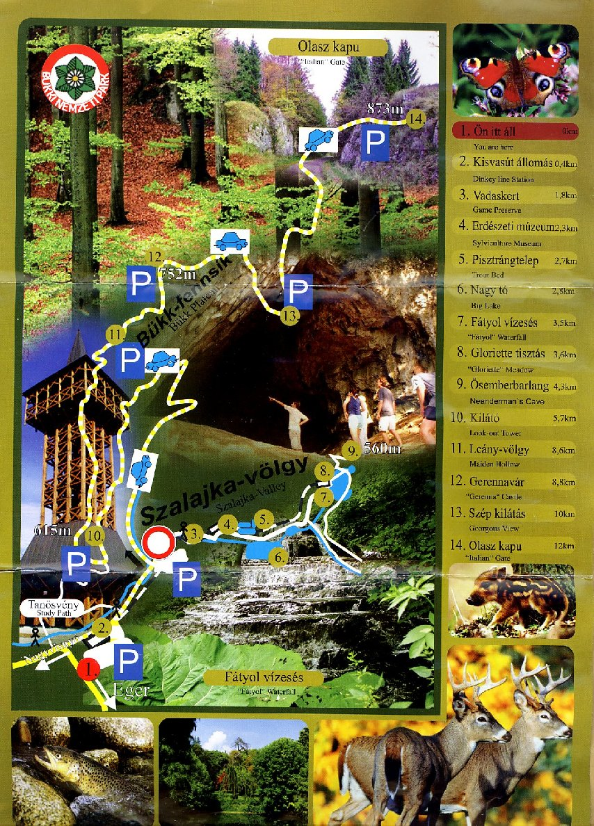 szalajka völgy térkép Eger és környéke   Eger and around   2012 szalajka völgy térkép