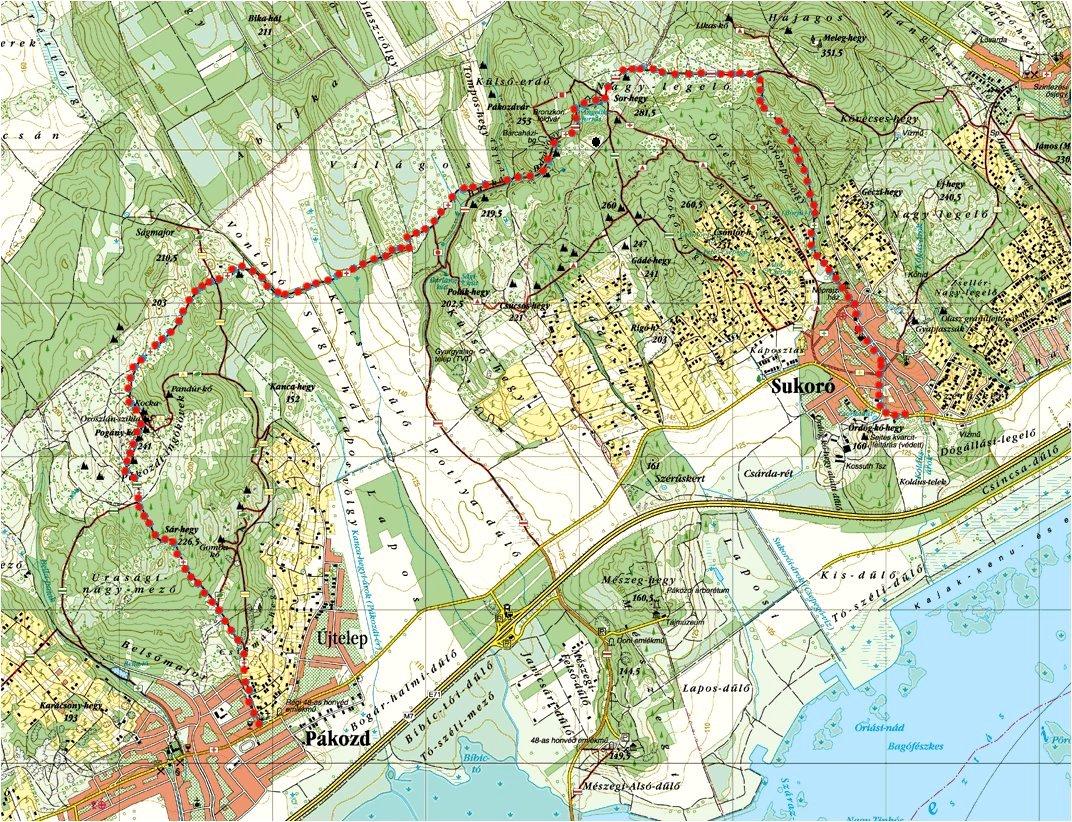 pákozd térkép Velencei hegység   Velence Mountains pákozd térkép