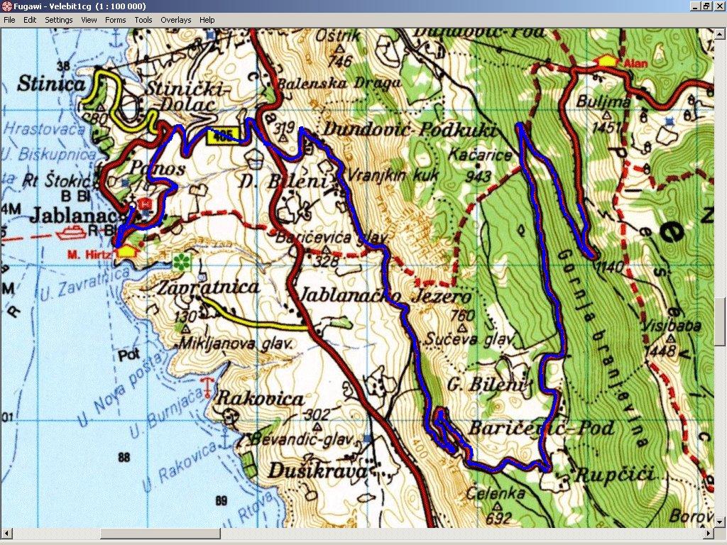 horvátország térkép részletes VELEBIT NEMZETI PARK   HORVÁTORSZÁG horvátország térkép részletes